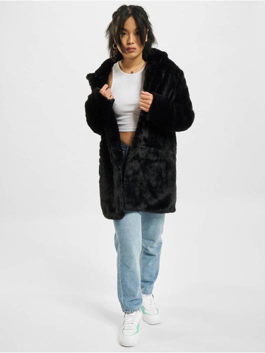 Urban Classics Coats Hooded Teddy black