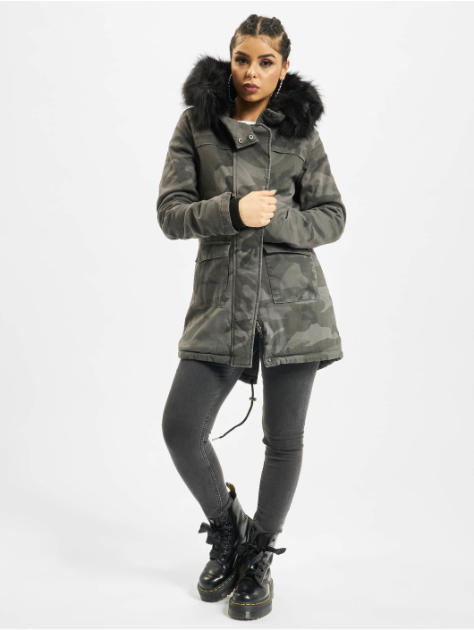 Urban Classics Coats Overdyed Camo camouflage