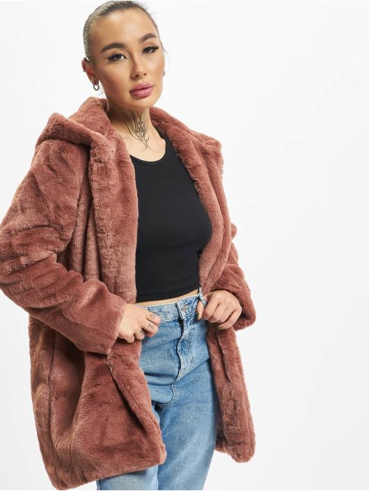 Urban Classics Coats Hooded Teddy rose