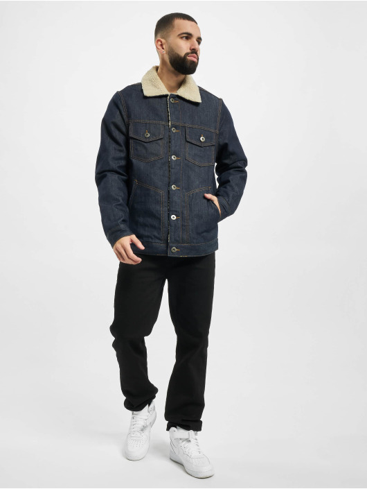 Urban Classics Denim Jacket Sherpa Lined blue