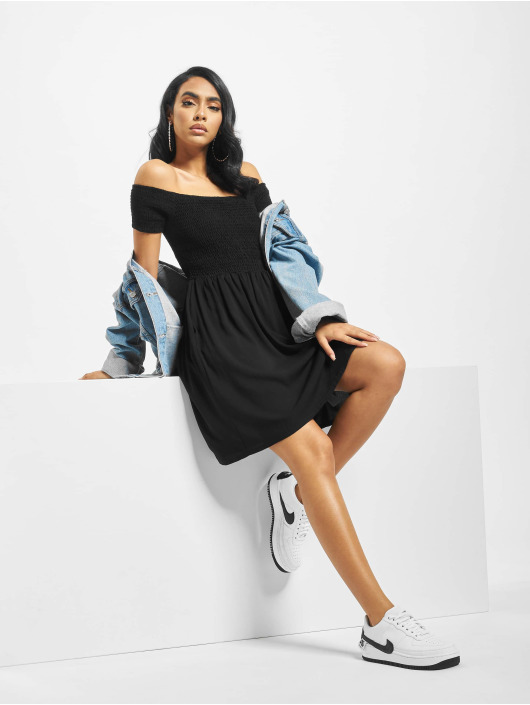 Urban Classics Dress Smoked Off black