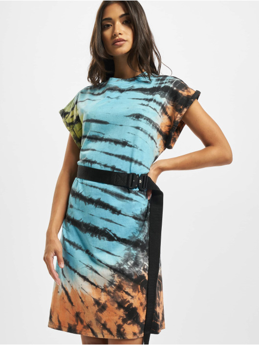 Urban Classics Dress Tie Dye black