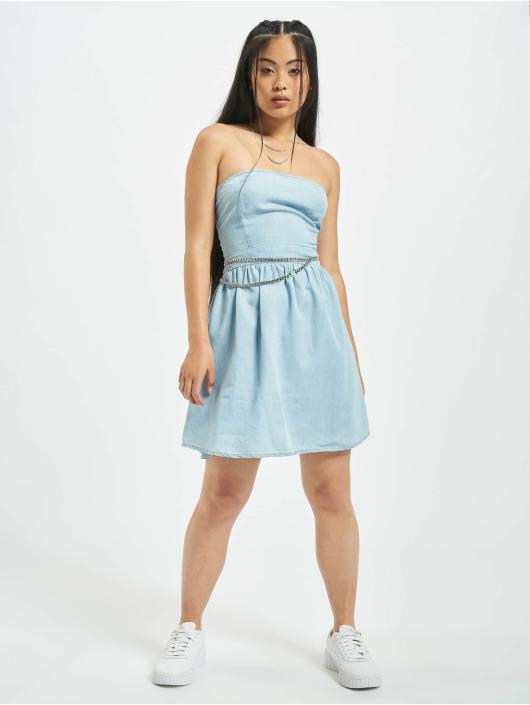 Urban Classics Dress Bandeau blue