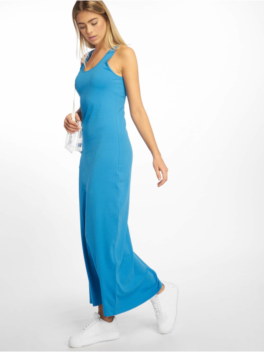 Urban Classics Dress Long Racer Back blue