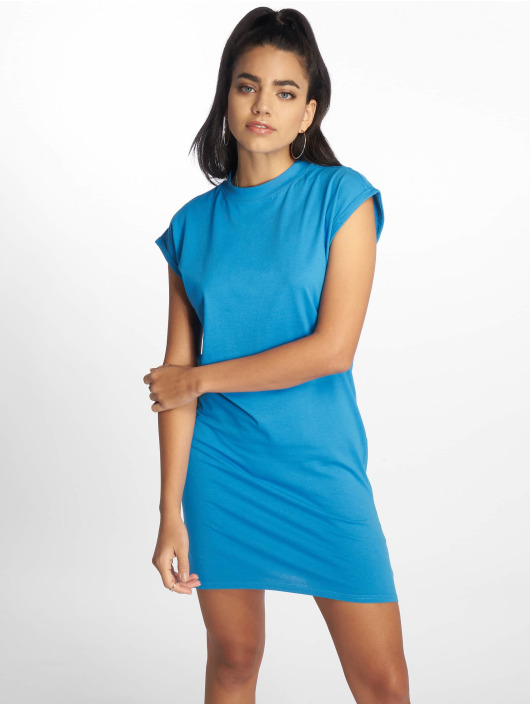 Urban Classics Dress Turtle Extended Shoulder blue