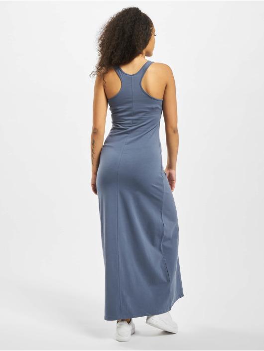 Urban Classics Dress Ladies Long Racer Back blue