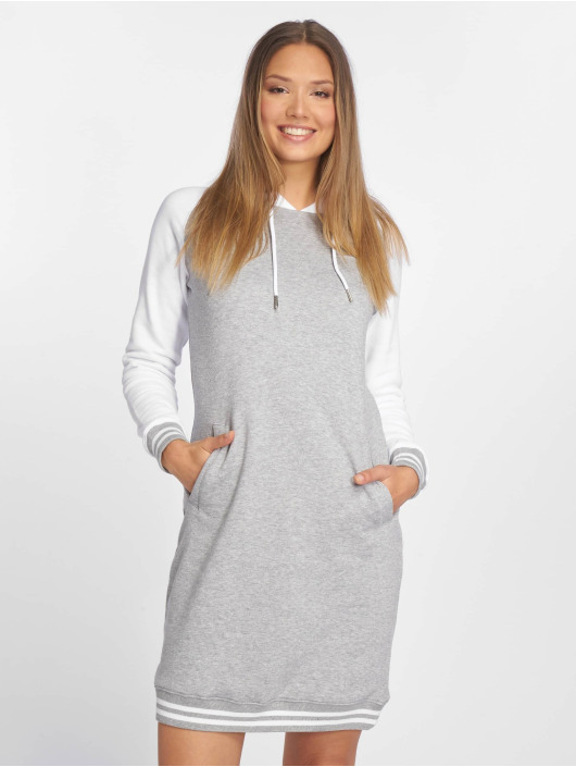 Urban Classics Dress Contrast College Hooded gray