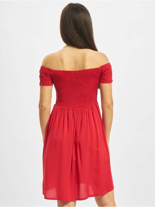 Urban Classics Dress Smoked Off red