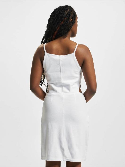 Urban Classics Dress Short Spaghetti Pique white