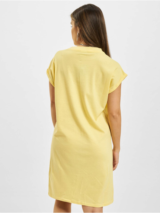 Urban Classics Dress Ladies Turtle Extended Shoulder yellow