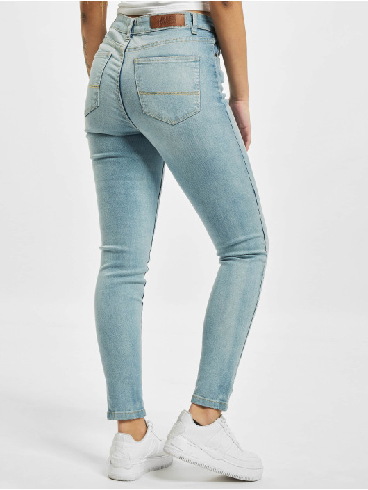 Urban Classics High Waisted Jeans Skinny High Waist blue