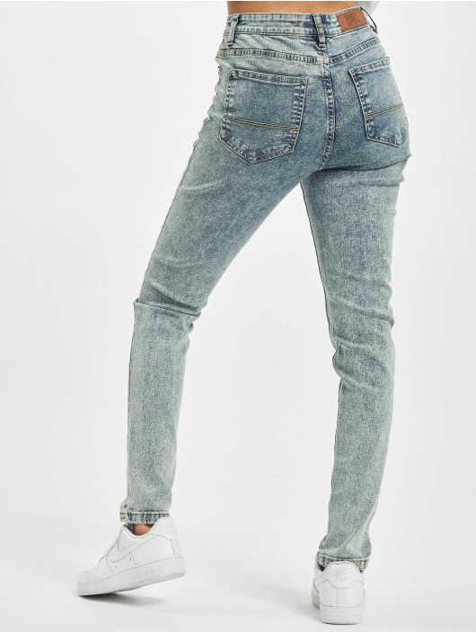 Urban Classics High Waisted Jeans Ladies High Waist blue