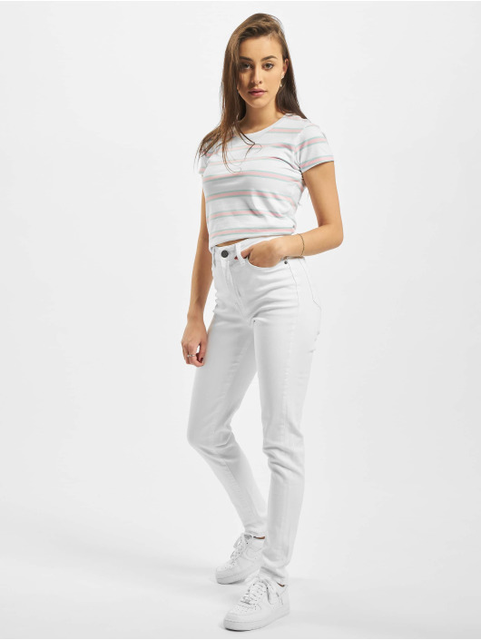 Urban Classics High Waisted Jeans Ladies Skinny white