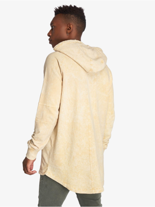 Urban Classics Hoodie Terry Acid Washed Long Shaped beige