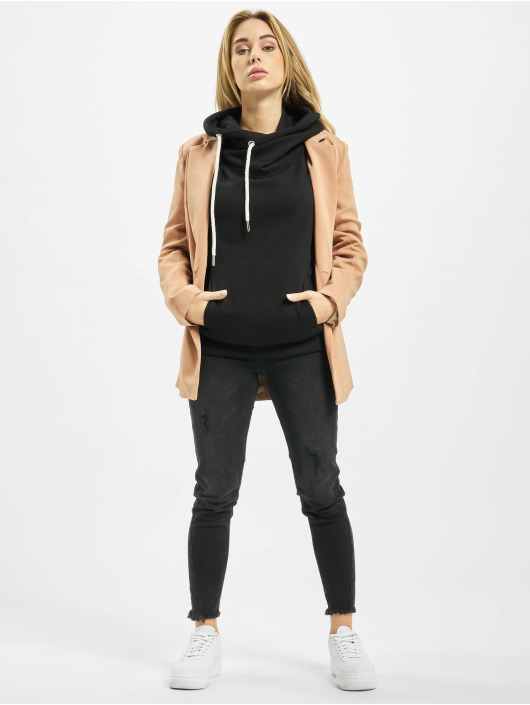 Urban Classics Hoodie Raglan High Neck black