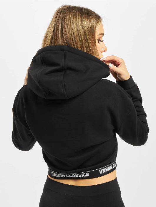 Urban Classics Hoodie Ladies Logo Waistband black
