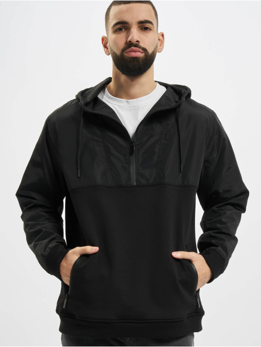 Urban Classics Hoodie Military Half Zip black