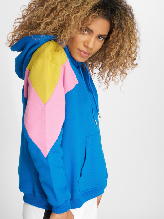Urban Classics Hoodie Oversize 3-Tone Block blue