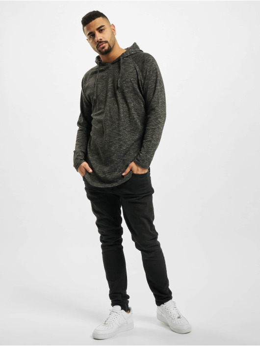 Urban Classics Hoodie Melange Shaped gray