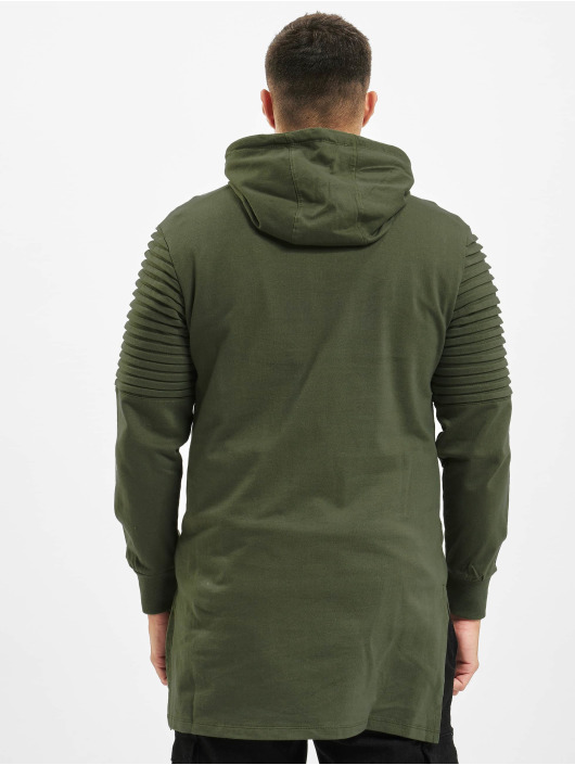Urban Classics Hoodie Pleat Sleeves Terry HiLo olive