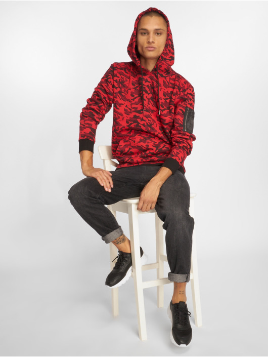 Urban Classics Hoodie Sweat Camo Bomber red