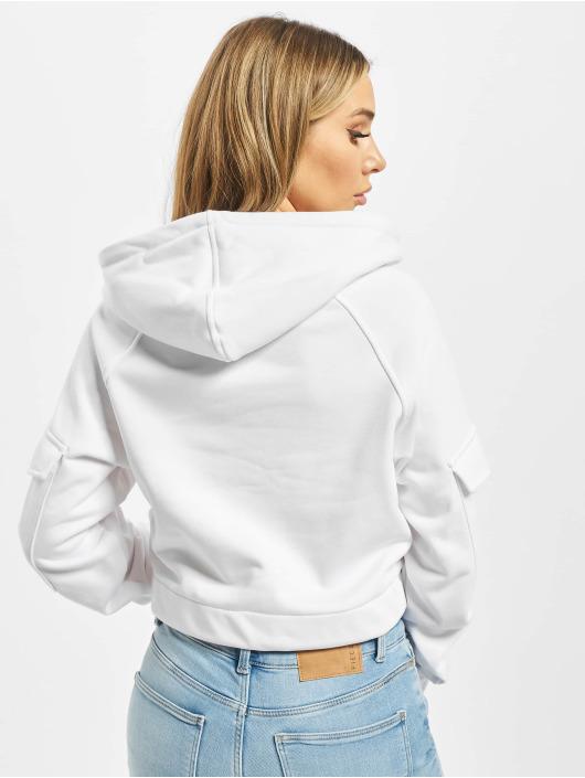 Urban Classics Hoodie Ladies Short Worke white