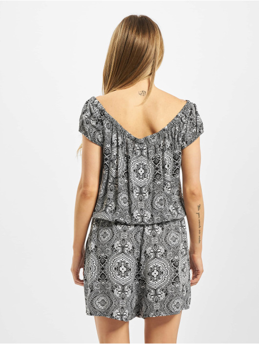 Urban Classics Jumpsuits Ladies All Over Print Off Shoulder black