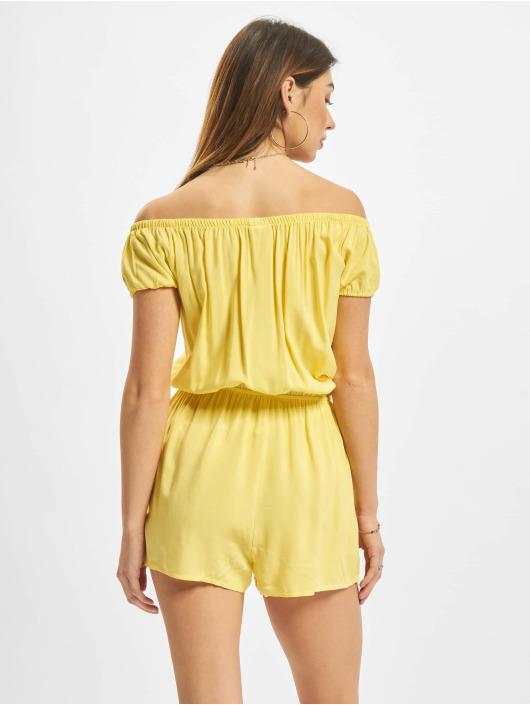 Urban Classics Jumpsuits Off Shoulder yellow
