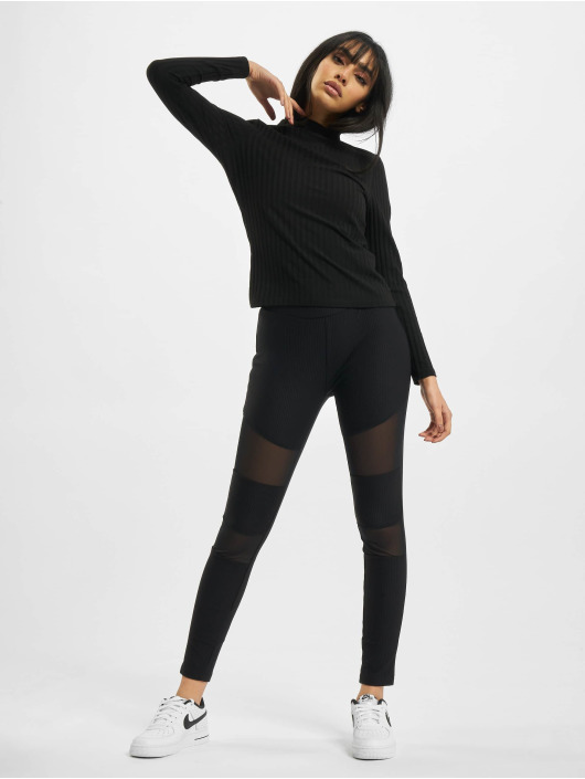 Urban Classics Leggings/Treggings Tech Mesh Rib black