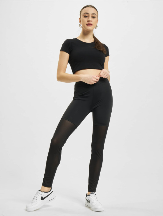 Urban Classics Leggings/Treggings High Waist Transparent Tech Mesh black