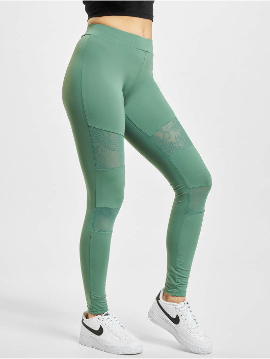 Urban Classics Leggings/Treggings Tech Mesh green