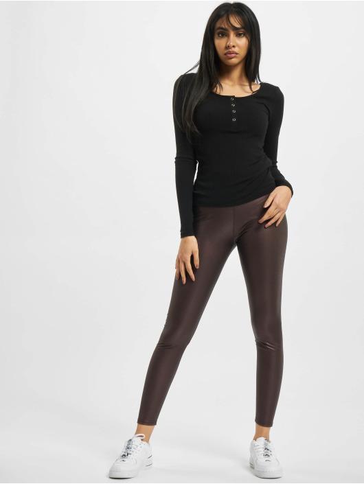 Urban Classics Leggings/Treggings Ladies Faux Leather High Waist red