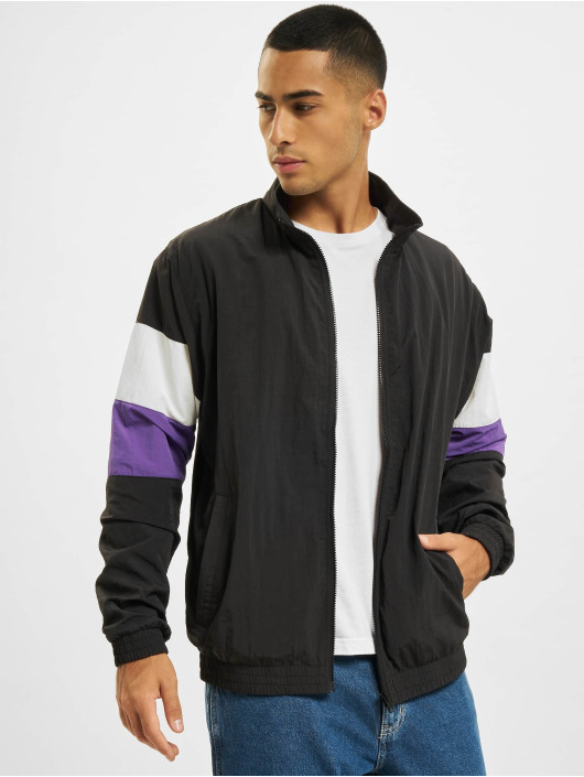 Urban Classics Lightweight Jacket 3-Tone Crinkle black