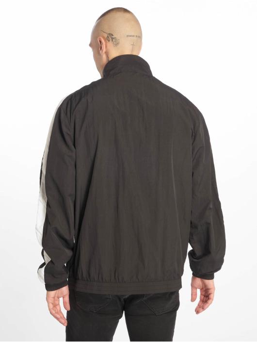 Urban Classics Lightweight Jacket Striped Sleeve Crinkle black