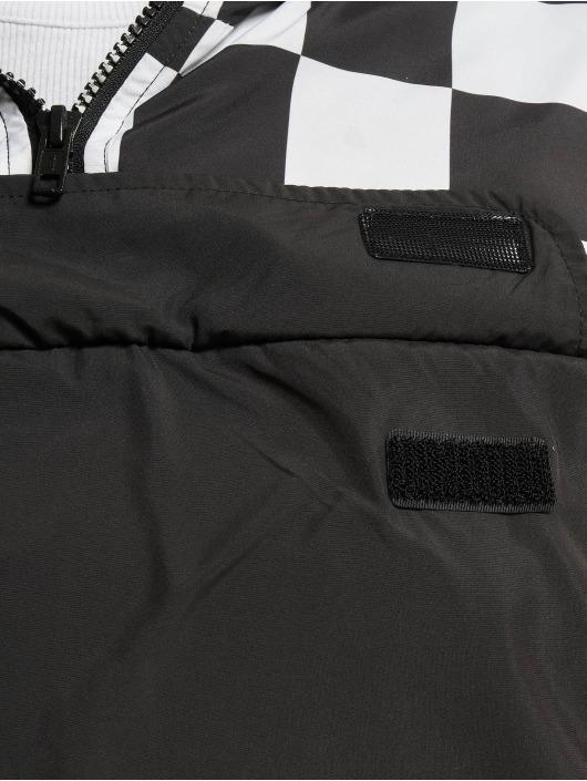 Urban Classics Lightweight Jacket Short Oversize Check Pull Over black