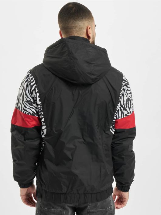 Urban Classics Lightweight Jacket Animal Mixed Pull Over black