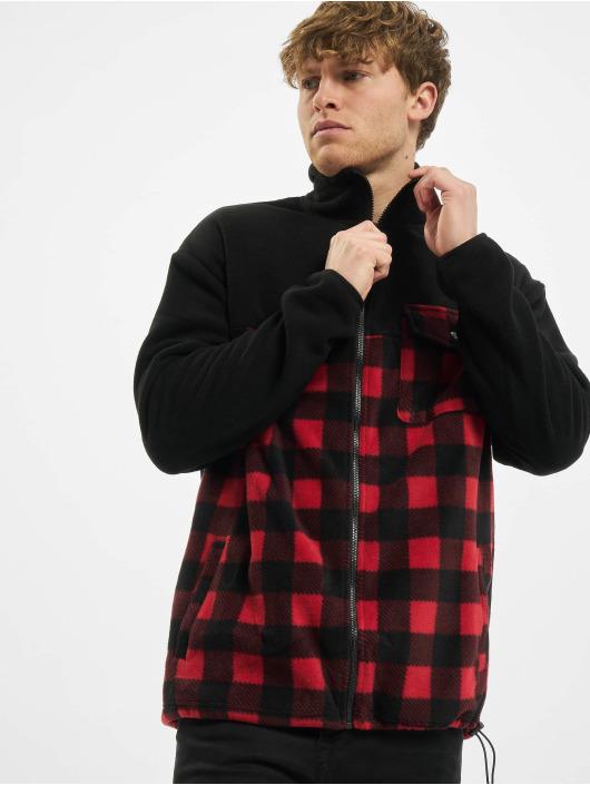 Urban Classics Lightweight Jacket Patterned Polar Fleece Track black
