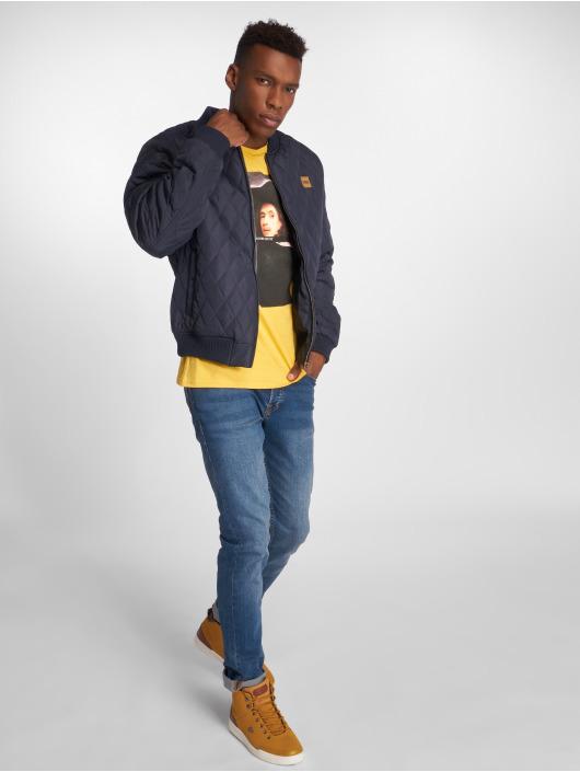 Urban Classics Lightweight Jacket Diamond Quilt Nylon blue