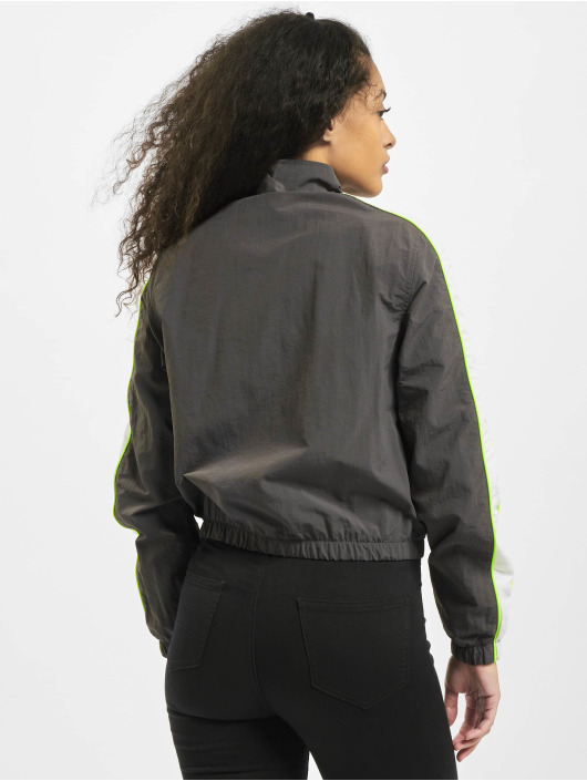 Urban Classics Lightweight Jacket Ladies Short Piped gray
