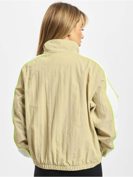 Urban Classics Lightweight Jacket Ladies Short Piped gray