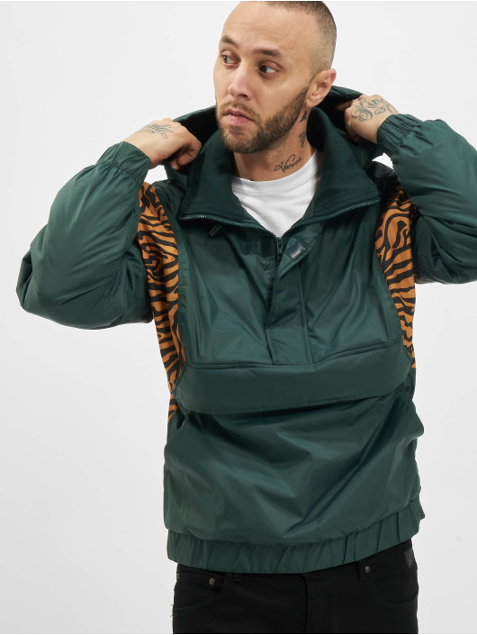 Urban Classics Lightweight Jacket Animal Mixed green