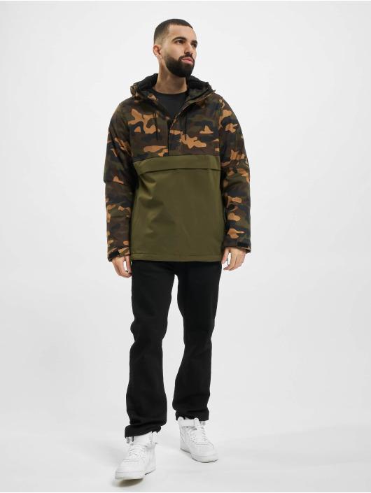 Urban Classics Lightweight Jacket Camo Mix Pull Over olive