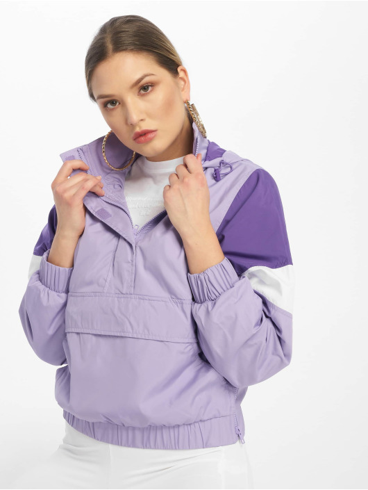 Urban Classics Lightweight Jacket Light 3-Tone Pull Over purple
