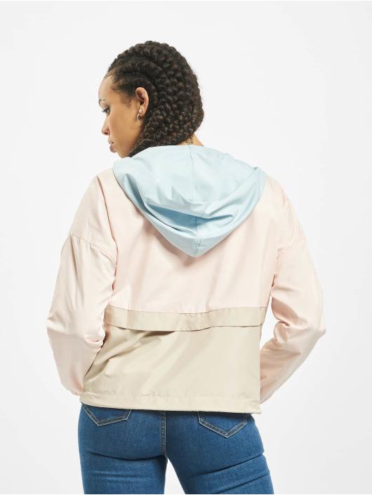 Urban Classics Lightweight Jacket 3-Tone Oversize rose