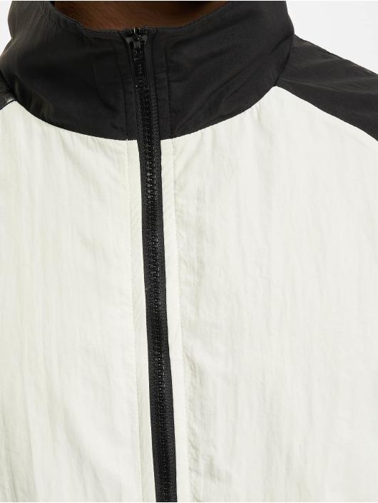 Urban Classics Lightweight Jacket Crinkle Contrast Raglan white