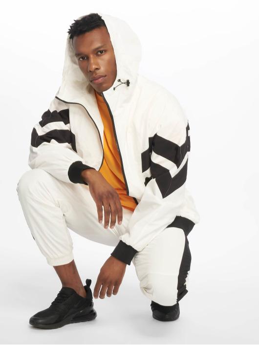 Urban Classics Lightweight Jacket Crinkle Panel white