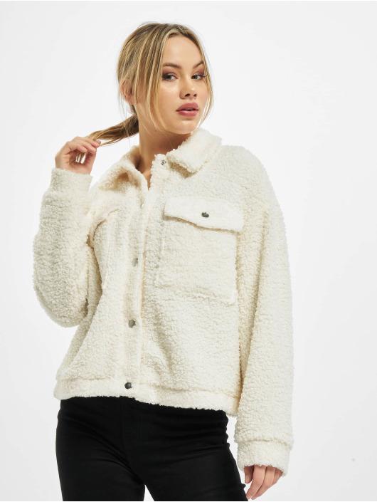 Urban Classics Lightweight Jacket Ladies Sherpa Trucker white