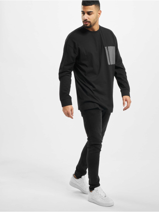 Urban Classics Longsleeve Boxy Big Contrast Pocket black