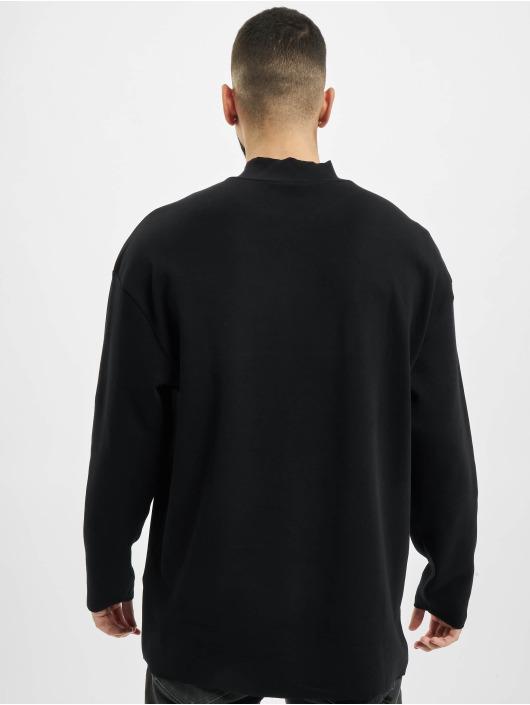 Urban Classics Longsleeve Peached Open Edge Interlock Winter LS black
