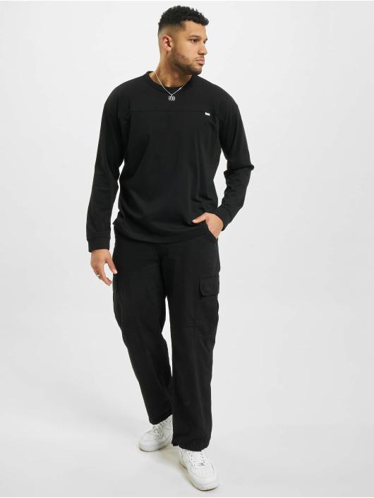 Urban Classics Longsleeve Organic Cotton Short Curved Oversized black